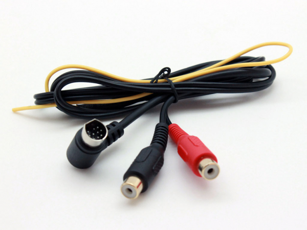 VW Aux In Mini 10 Pin - RCA.  Vehicles without OEM TV Tuner